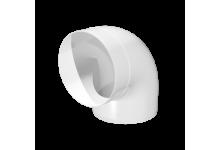 Колено круглое пластик 90°, D=100(10ККП), 137.00 р., Отводы (колено)