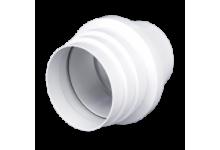 Соединитель эксцентриковый круглого воздуховода с круглым пластик D=100/110 (1011РЭП), 147.00 р., Соединители (ниппель, муфта), Переходы, Адапторы