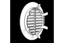 Решетка вентиляционная круглая Ф125 с фланцем Ф100 (пластиковая), 84.00 р., Решетки, диффузоры, гофра