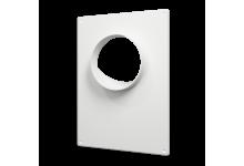 Площадка торцевая пластиковая 180*250, фланец D=100(100ПТП), 140.00 р., Фланцы, накладки, площадки, обр.клапана