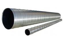 Спирально-навивной воздуховод D=100мм, 341.00 р., Воздуховоды круглые